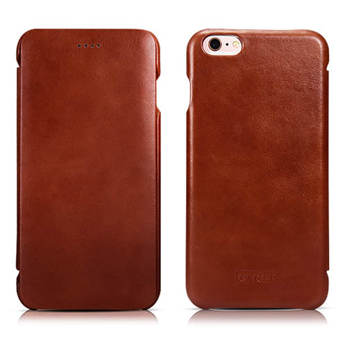 iCarer iPhone 6/ 6S Curved Edge Vintage Series Genuine Leather Case