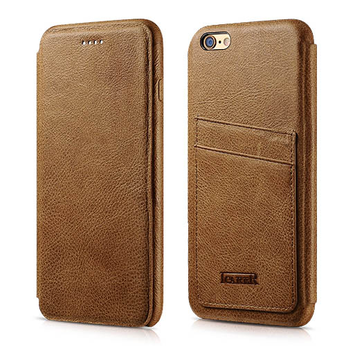 iCarer iPhone 6/ 6S Knight Card-slot Real Leather Cover Series Case