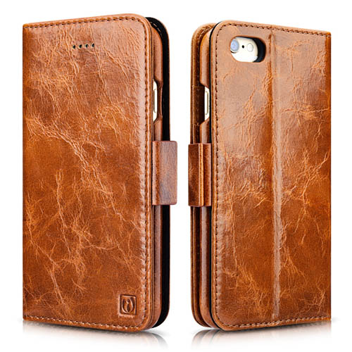 iCarer iPhone 6/ 6S Oil Wax Leather Detachable 2 in 1 Wallet Folio Case