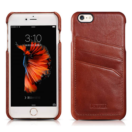 iCarer iPhone 6 Plus/ 6S Plus Baroque Vintage Back Cover Series Genuine Leather Case