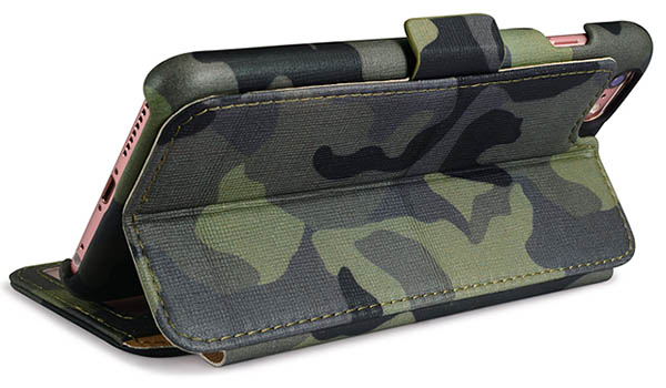 iCarer iPhone 6 Plus/6S Plus Camouflage Wallet Genuine Leather Case