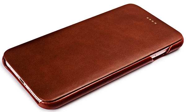 online store 0f46d 75535 iCarer iPhone 6 Plus/ 6S Plus Curved Edge Vintage Series Genuine Leather  Case