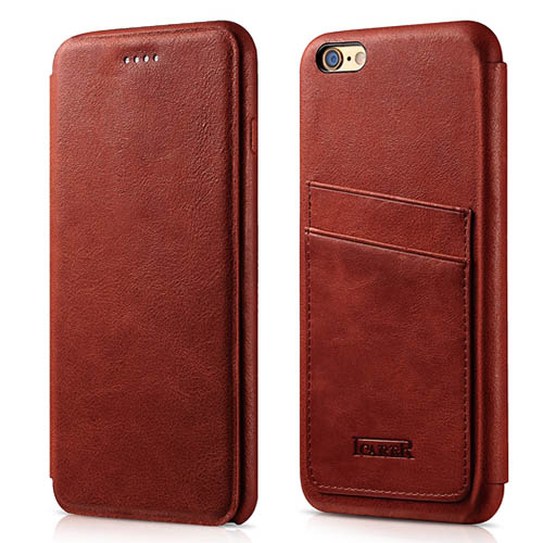 iCarer iPhone 6 Plus/ 6S Plus Knight Card-slot Real Leather Cover Series Case