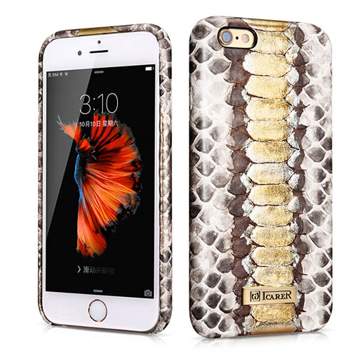 iCarer iPhone 6 Plus/ 6S Plus Python Leather Back Cover Series Genuine Leather Case