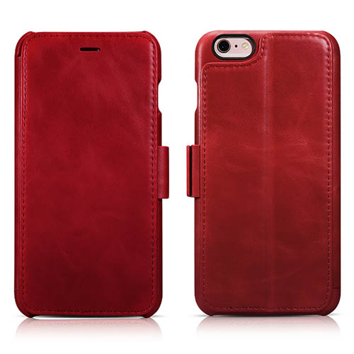 iCarer iPhone 6 Plus/ 6S Plus Vintage Wallet Case With Three Credit Cards Slot Design
