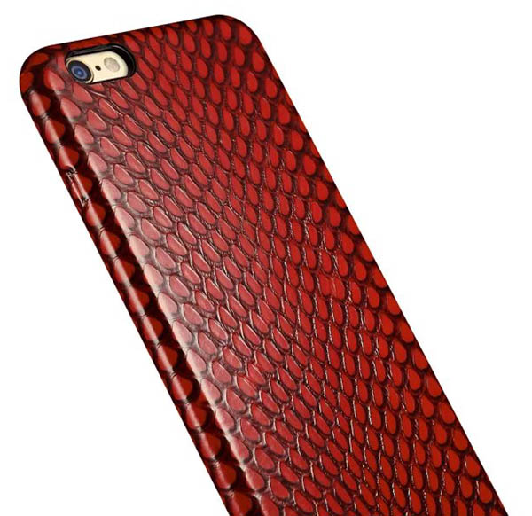the best attitude c2769 6e694 iCarer iPhone 6/ 6S Snake Skin Series Back Cover Genuine Leather Case