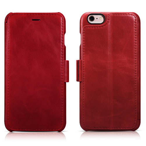 iCarer iPhone 6/ 6S Vintage Wallet Case With Three Credit Cards Slot Design