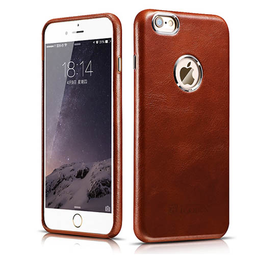 iCarer iPhone 6/ 6S Case Transformers Vintage Back Cover Series Genuine Leather Case