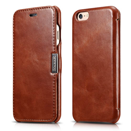 iCarer iPhone 6/ 6S Vintage Series Side open Genuine Leather Case Cover