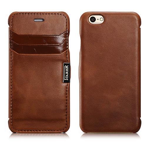 iCarer iPhone 6/ 6S Side open Card Slot Vintage Series Genuine Leather Case Cover