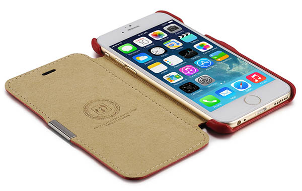 iPhone 6 iCarer Side open Genuine Leather Case Cover