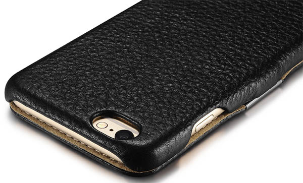 iCarer iPhone 6S Microfiber Check Genuine Leather Case Cover