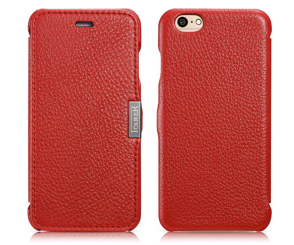 iPhone 6S iCarer Microfiber Check Leather Case Cover