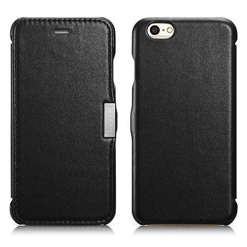 iCarer iPhone 6/ 6S Side Open Luxury Series Corrected Grain Leather Case Cover