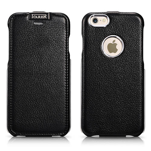 iCarer iPhone 6/ 6S Metal Warrior Litchi Pattern Series Magnetic Flip Leather Case
