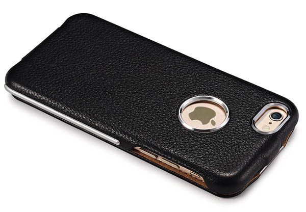 iCarer iPhone 6S Metal Warrior Litchi Pattern Leather Case