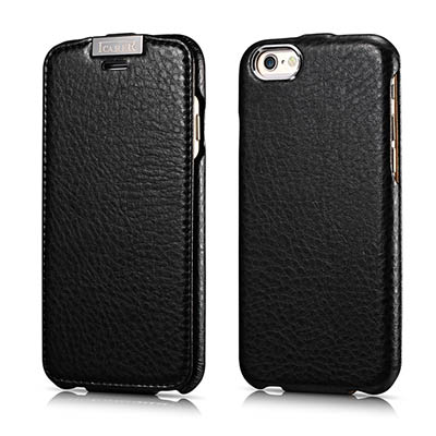 iCarer iPhone 6/ 6S Metal Warrior Microfiber Series Genuine Leather Flip Case Cover