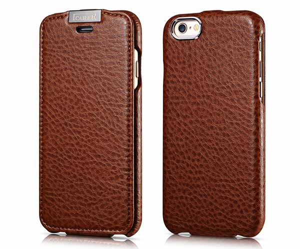 iPhone 6 iCarer Genuine Leather Flip Case Cover