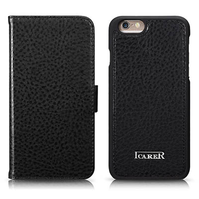 iCarer iPhone 6/ 6S Multifunctional Microfiber Card-Slot Series Side Open Leather Flip Wallet Case Cover