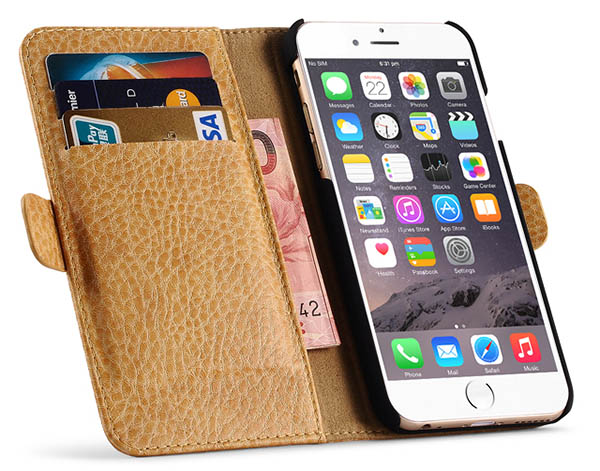 iCarer iPhone 6 Leather Flip Wallet Case Cover