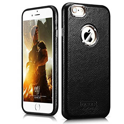 iCarer iPhone 6 Plus/ 6S Plus Transformers Litchi Pattern Series Genuine Leather Stand Case