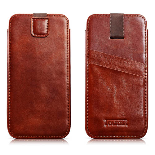 iCarer iPhone 6 Plus/ 6S Plus Case Vintage Straight Leather Wallet Case Cover