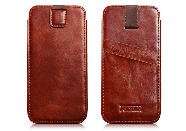 iCarer iPhone 6 Plus Vintage Straight Leather Wallet Case Cover