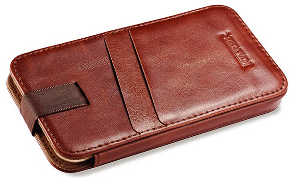 iPhone 6 Plus iCarer Vintage Straight Leather Wallet Case Cover