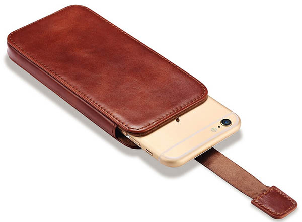 iPhone 6 Plus iCarer Straight Leather Wallet Case Cover