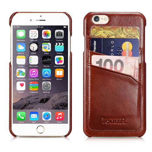 iCarer iPhone 6/ 6S Vintage Card-slot Back Cover Series Genuine Leather Case Cover