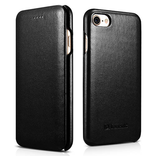 iCarer iPhone 7 Curved Edge Luxury Series Genuine Leather Case