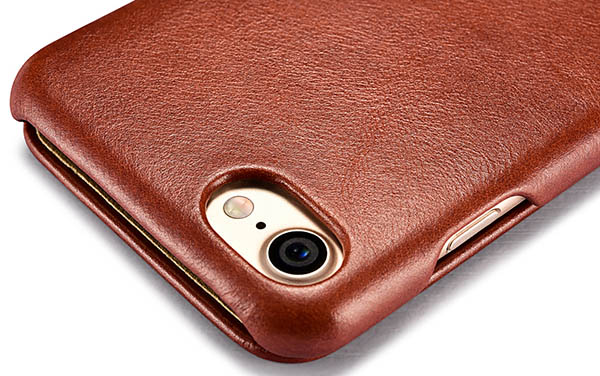 iCarer iPhone 7 Curved Edge Vintage Series Genuine Leather Case