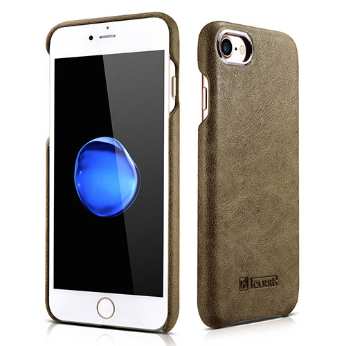 iCarer iPhone 8 Metal Warrior Shenzhou Real Leather Back Case