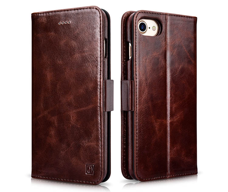 iCarer iPhone 7 Oil Wax Wallet Leather Detachable 2 in 1 Folio Case