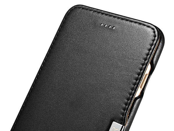 iCarer iPhone 8 Plus Luxury Series Side Open Genuine Leather Case