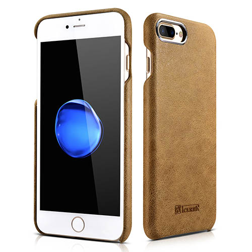 iCarer iPhone 8 Plus Metal Warrior Shenzhou Real Leather Cover