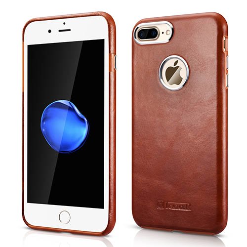 iCarer iPhone 7 Plus Transformers Vintage Back Cover Genuine Leather Case