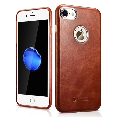 iCarer iPhone 8 Transformers Vintage Back Cover Genuine Leather Case