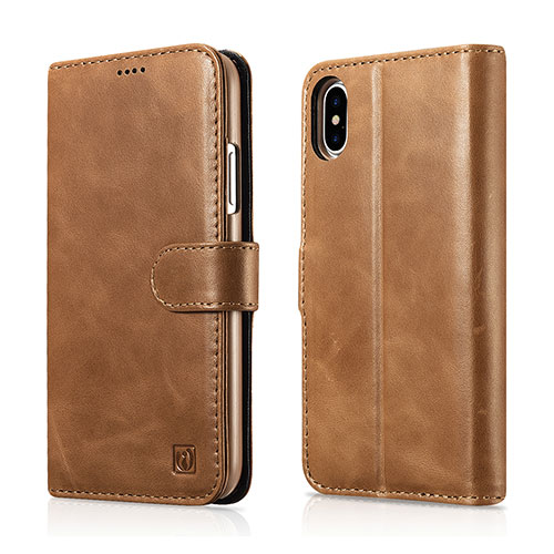iCarer iPhone Xs Wallet Detachable 2 in 1 Genuine Leather Folio Case