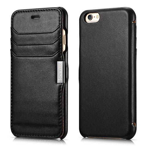 iCarer iPhone 6/ 6S Card slot Luxury Series Side Open Leather Wallet Case Cover